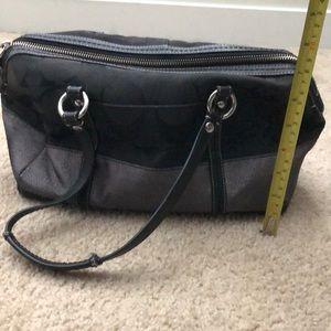 Black coach purse with sparkle stripe